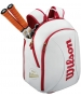 Wilson 100 Year Tour Small Backpack (White/ Red) - Wilson Tennis Bags