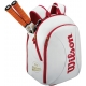 Wilson 100 Year Tour Small Backpack (White/ Red) - Wilson Tour Series Tennis Bags