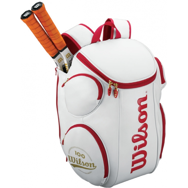 Wilson 100th Anniversary Tour Large Tennis Backpack (White/ Red)