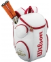 Wilson 100 Year Tour Large Tennis Backpack (White/ Red) - Wilson Tennis Bags