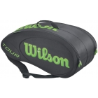 Wilson Tour Molded 9 Pack Tennis Bag (Black/Lime) - Wilson Tour Series Tennis Bags