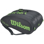 Wilson Tour Molded 15 Pack Tennis Bag (Black/Lime) - Wilson Tour Series Tennis Bags
