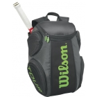 Wilson Tour Molded Large Backpack (Black/ Lime) - Wilson Tour Series Tennis Bags
