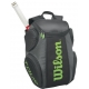 Wilson Tour Molded Large Backpack (Black/ Lime) - Wilson Collection Tennis Bags