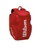 Wilson Tour Molded Large Backpack (Red) - Wilson Tour Series Tennis Bags