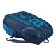 Wilson Ultra 15 Pack Tennis Bag (Blue/Blue) - 9 and 12+ Racquet Tennis Bags