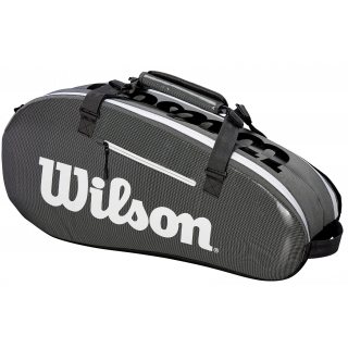 c838b98e29aa Wilson Super Tour Small 2 Compartment Tennis Bag (Black Grey) - Do ...