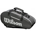 Wilson Super Tour Large 2 Compartment Tennis Bag (Black/Grey) - - Best Selling Tennis Gear. Discover What Other Players are Buying!