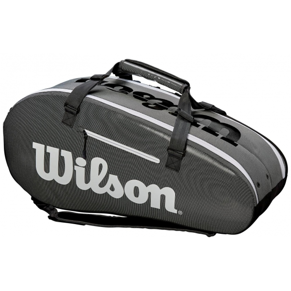 Wilson Super Tour Large 2 Compartment Tennis Bag (Black/Grey)