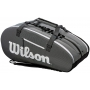 Wilson Super Tour 3 Compartment Tennis Bag (Black/Grey)