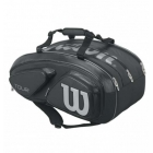 Wilson Tour V 15 Pack Tennis Bag (Black/Silver) - 7 Racquet Tennis Bags