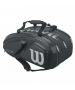 Wilson Tour V 15 Pack Tennis Bag (Black/Silver) - Wilson Tour Series Tennis Bags