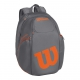 Wilson Burn Tennis Backpack (Grey/Orange) - Wilson Tennis Bags