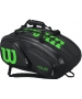 Wilson Tour V 15 Pack Tennis Bag (Black/Lime) - Wilson Tennis Bags