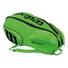 Wilson Blade 9-Pack Tennis Bag (Green/Black) - Tennis Racquet Bags