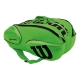 Wilson Blade 15-Pack Tennis Bag (Green/Black) - 9 and 12+ Racquet Tennis Bags