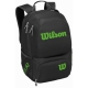 Wilson Tour V Tennis Backpack (Black/Lime) - Tennis Backpacks