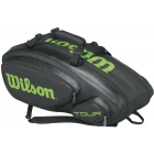 Wilson Tour V 9 Pack Tennis Bag (Black/Lime) - Wilson Tour Tennis Bags