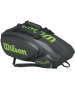 Wilson Tour V 9 Pack Tennis Bag (Black/Lime) - Wilson Tennis Bags