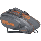 Wilson Tour V 9 Pack Tennis Bag (Grey/Orange) - Wilson Tour Tennis Bags