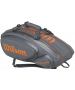 Wilson Tour V 9 Pack Tennis Bag (Grey/Orange) - Wilson Tennis Bags
