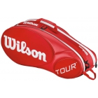 Wilson Tour Molded 2.0 6 Pack Tennis Bag (Red/ White) - Wilson Tennis Bags