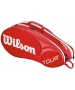 Wilson Tour Molded 2.0 6 Pack Tennis Bag (Red/ White) - Wilson Tour Series Tennis Bags