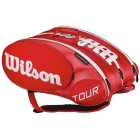 Wilson Tour Molded 2.0 15 Pack Tennis Bag (Red/ White) - New Tennis Bags