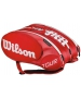 Wilson Tour Molded 2.0 15 Pack Tennis Bag (Red/ White) - Wilson Tour Series Tennis Bags