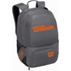 Wilson Tour V Tennis Backpack (Grey/Orange) - Wilson Tour Tennis Bags