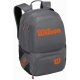 Wilson Tour V Tennis Backpack (Grey/Orange) - Tennis Backpacks