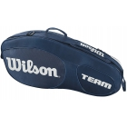 Wilson Team III 3 Pack Tennis Bag (Blue/White) - Wilson Team Tennis Bags