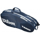Wilson Team III 6 Pack Tennis Bag (Blue/ White) - Wilson Team Tennis Bags