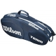 Wilson Team III 6 Pack Tennis Bag (Blue/ White) - Tennis Racquet Bags