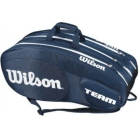 Wilson Team III 12 Pack Tennis Bag (Blue/White) - Wilson Team Tennis Bags