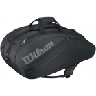 Wilson Club 9 Pack Tennis Bag (Black) - Wilson Club Tennis Bags