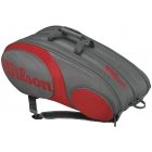 Wilson Team Gunmetal Collection 12 Pack Tennis Bag (Grey/ Red) - Wilson Tennis Bags