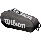 Wilson Team 2 Comp Tennis Bag (Black/Grey) - Wilson Team Tennis Bags