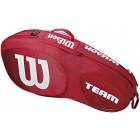 Wilson Team III 3 Pack Tennis Bag (Red/White) - Wilson Team Tennis Bags