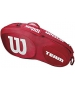 Wilson Team III 3 Pack Tennis Bag (Red/White) - Wilson Tennis Bags