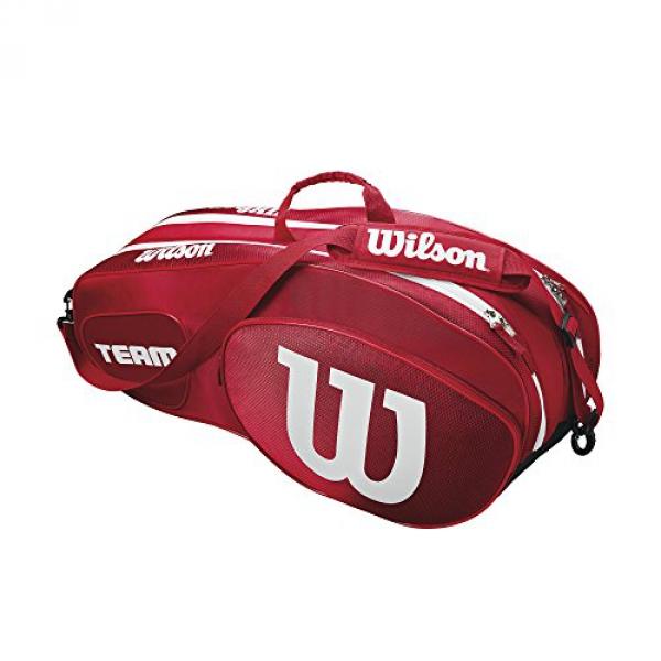 Wilson Team III 6 Pack Tennis Bag (Red/White)