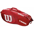 Wilson Team III 6 Pack Tennis Bag (Red/White) - Wilson Team Tennis Bags