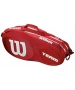 Wilson Team III 6 Pack Tennis Bag (Red/White) - Wilson Tennis Bags