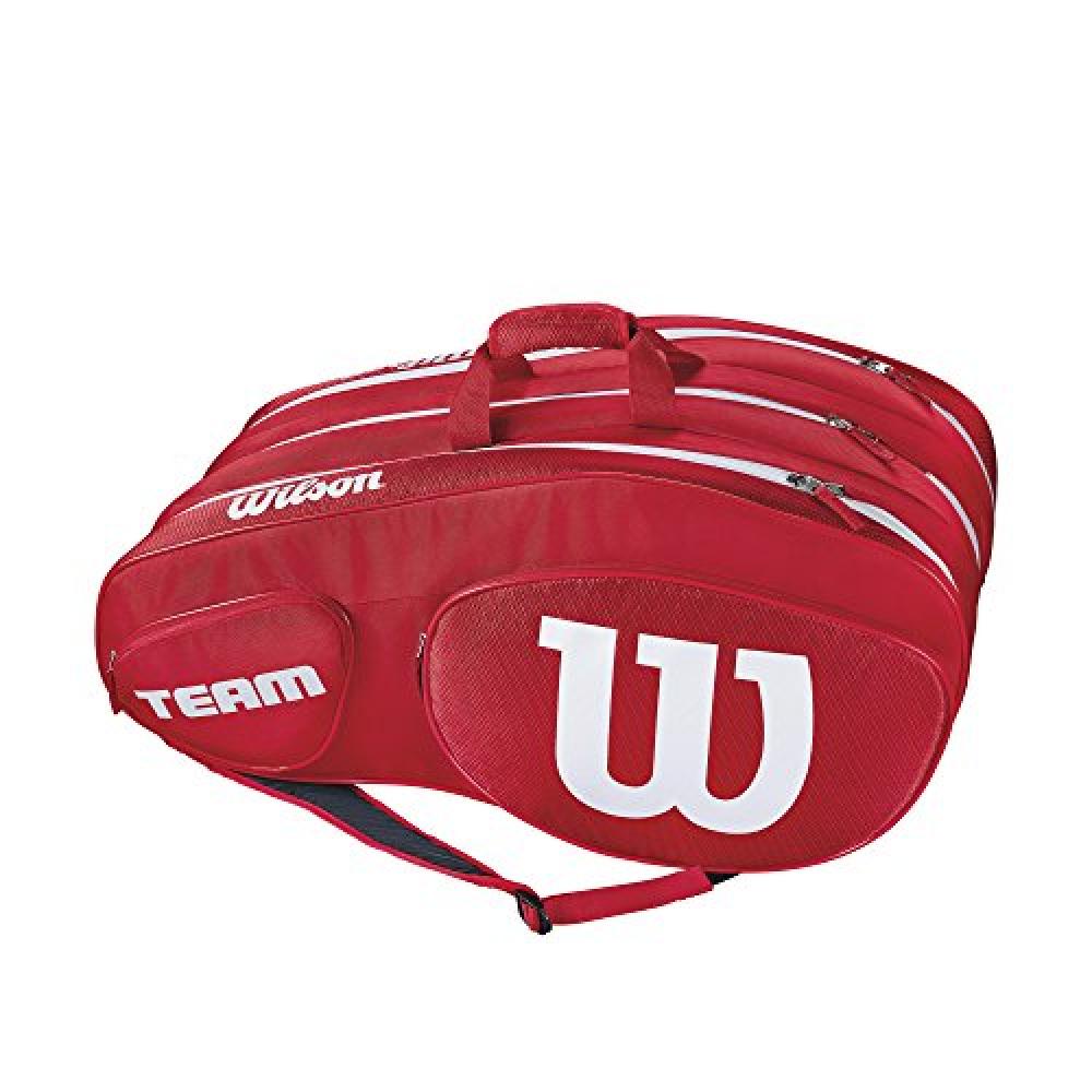 Wilson Team III 12 Pack Tennis Bag (Red/White)