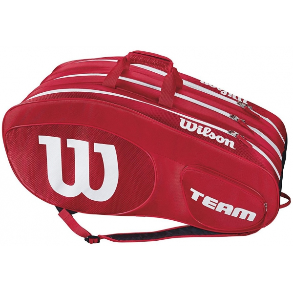 Wilson Team III 12 Pack Tennis Bag (Red/White)