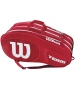 Wilson Team III 12 Pack Tennis Bag (Red/White) - Wilson Tennis Bags