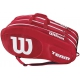 Wilson Team III 12 Pack Tennis Bag (Red/White) - Tennis Racquet Bags