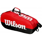 Wilson Team 2 Comp Tennis Bag (Black/Red) - Wilson Team Tennis Bags
