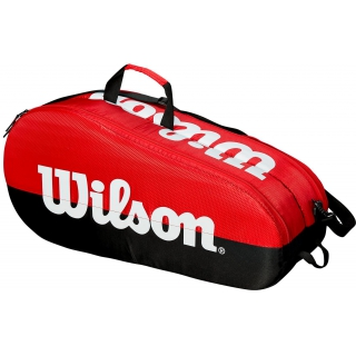 Wilson Team 2 Compartment Tennis Bag (Black/Red)