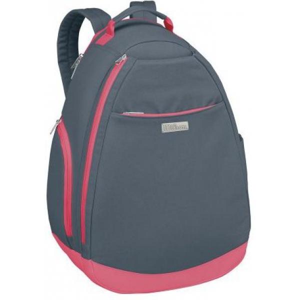 Wilson Women's Grey/Pink Tennis Backpack - Do It Tennis